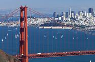 Stock Photo of san francisco panorama w the golden gate bridge