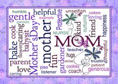 Mother's Day word collage Stock Illustration
