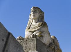 Egyptian sphinx in park of the pleasant retreat Stock Photos