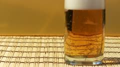 Cool fresh beer bubbles Stock Footage