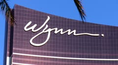 Wynn Casino close up of logo Stock Footage