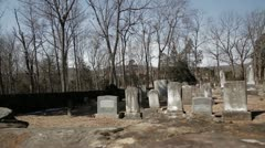 Historic Civil War Graveyard in Winter 8 Stock Footage