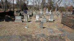 Historic Civil War Graveyard in Winter 2 Stock Footage