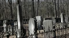 Historic Civil War Graveyard in Winter 28 Stock Footage
