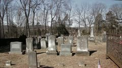 Historic Civil War Graveyard in Winter 7 Stock Footage