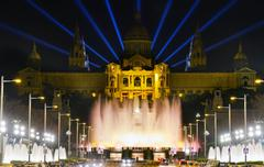 monumental fountain barcelona - stock photo