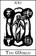 World tarot card Stock Illustration
