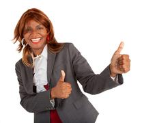 Two thumbs up!! Stock Photos