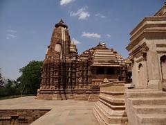 Khajuraho Temples 2 : A UNESCO world heritage site Stock Photos
