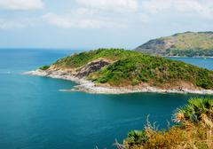 View of the andaman sea from the viewing point, phuket , south of thailand. Stock Photos