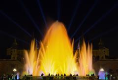 Monumental fountain barcelona Stock Photos
