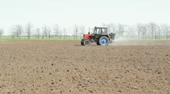 Tractor Spraying Field Stock Footage