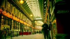 View to the Leadenhall Market Stock Footage