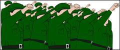 North Korean Army - stock illustration