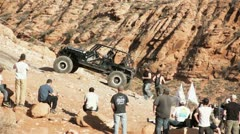 Off Road Jeep roll over Stock Footage