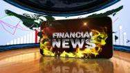 20 fin news red 4 Stock Footage