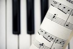 Vintage nuotteja piano avaimet Kuvituskuvat