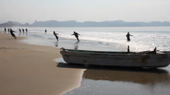 Mexican Fishermen Stock Footage