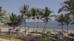 Palms and Huts by The Oean Stock Footage