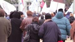 Unemployment Protest 4 - stock footage
