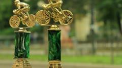 Racing Bicycles Awards Stock Footage