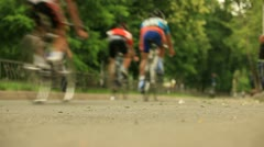 Racing Bicycles Stock Footage