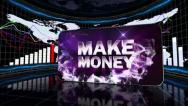 12 makemoney blue 2 Stock Footage