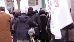 Unemployment Protest 2 - stock footage