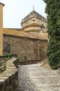 Besalu spain, a catalan village Stock Photos