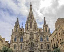 barcelona cathedral - stock photo