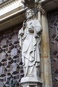 Barcelona cathedral, jesus christ Stock Photos