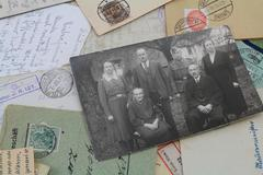 old family foto - stock photo