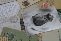 Old baby foto Stock Photos