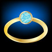Stock Illustration of gilded ring with jewels