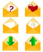 Postal envelopes Stock Illustration
