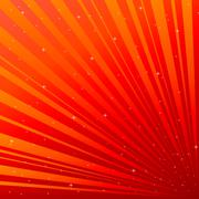 red background with asterisk - stock illustration