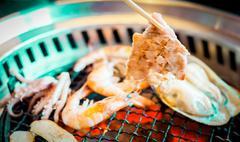Roasted pork korea food Stock Photos