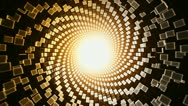 3D Hypnotic Abstract Sun Disintegrating Transition with Alpha Matte HD Stock Footage