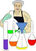Chemistry Lab - stock illustration