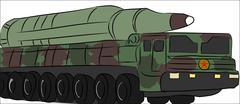 Missile Truck - stock illustration
