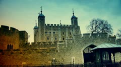 Twilight with London Towers Stock Footage