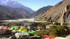 Mountain village in the Himalayas Stock Footage