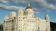 port of Liverpool building, england - stock footage