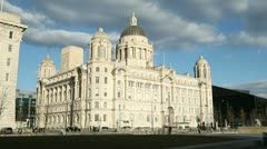 port authority building, liverpool, england - stock footage