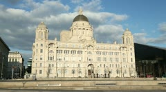 Port of liverpool building, england Stock Footage