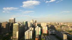 4k resolution time lapse, Beijing city sunset Stock Footage