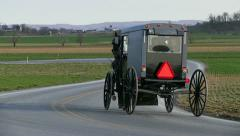 Amish Horse and Carriage Stock Footage