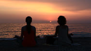 Stock Video Footage of Meditation At Sunset