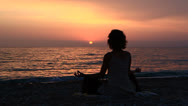 Stock Video Footage of Yoga at sunset