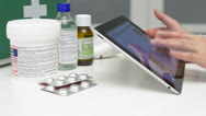 Medical Tablet computer in use Stock Footage